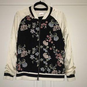 Black and Cream Bomber Jacket